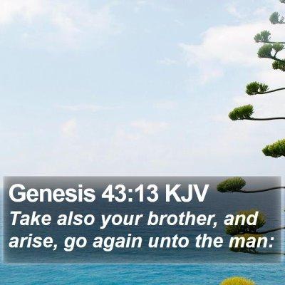 Genesis 43:13 KJV Bible Verse Image