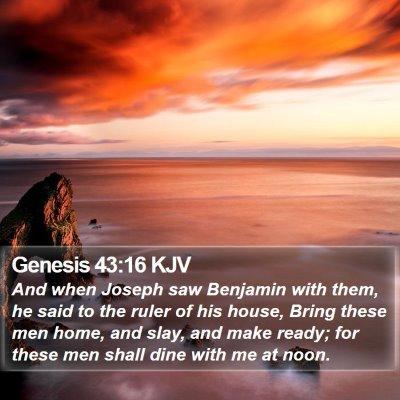 Genesis 43:16 KJV Bible Verse Image