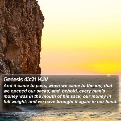 Genesis 43:21 KJV Bible Verse Image