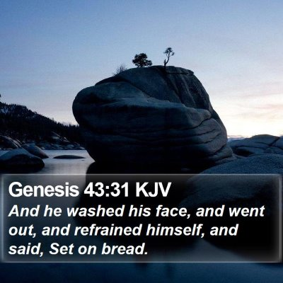 Genesis 43:31 KJV Bible Verse Image