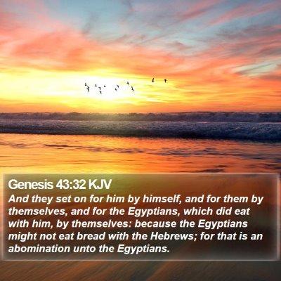 Genesis 43:32 KJV Bible Verse Image