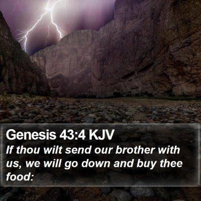 Genesis 43:4 KJV Bible Verse Image