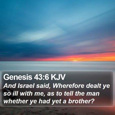 Genesis 43:6 KJV Bible Verse Image