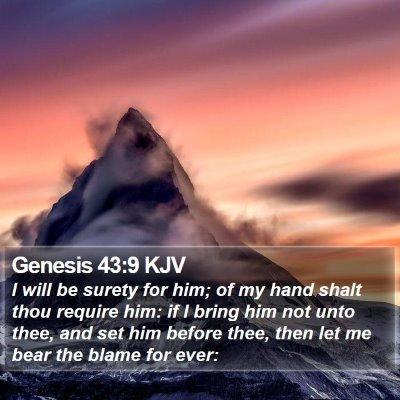 Genesis 43:9 KJV Bible Verse Image