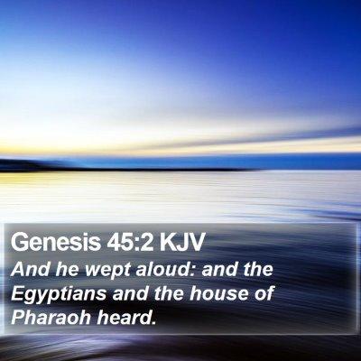 Genesis 45:2 KJV Bible Verse Image
