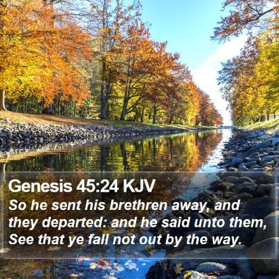 Genesis 45:24 KJV Bible Verse Image
