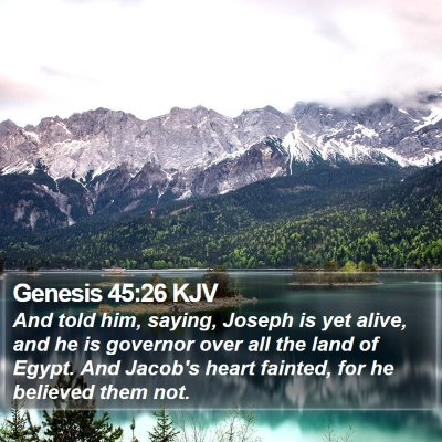 Genesis 45:26 KJV Bible Verse Image