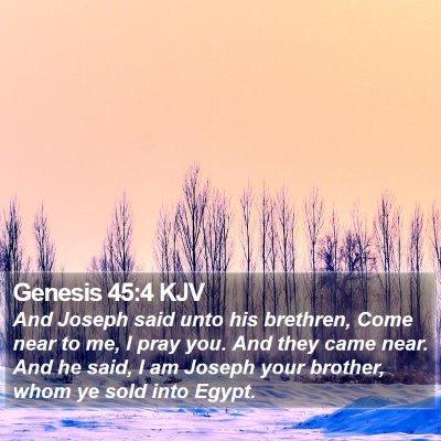 Genesis 45:4 KJV Bible Verse Image