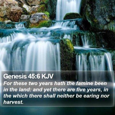 Genesis 45:6 KJV Bible Verse Image