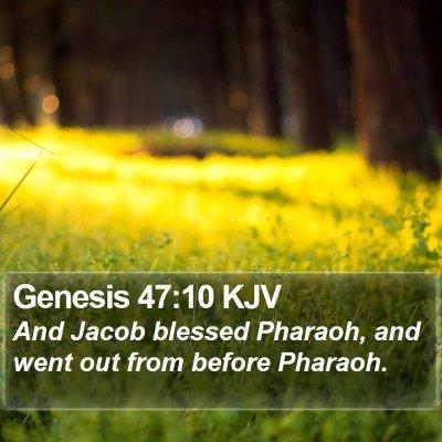 Genesis 47:10 KJV Bible Verse Image