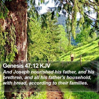 Genesis 47:12 KJV Bible Verse Image