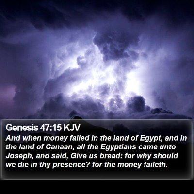 Genesis 47:15 KJV Bible Verse Image