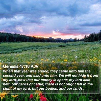 Genesis 47:18 KJV Bible Verse Image