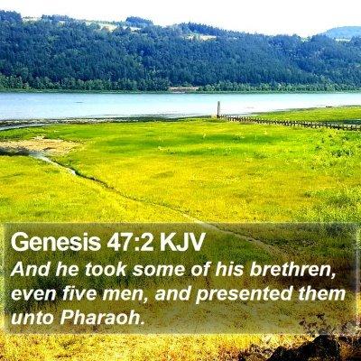 Genesis 47:2 KJV Bible Verse Image