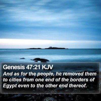 Genesis 47:21 KJV Bible Verse Image