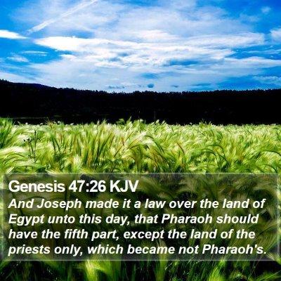 Genesis 47:26 KJV Bible Verse Image