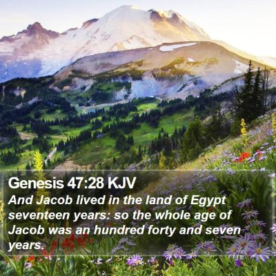 Genesis 47:28 KJV Bible Verse Image