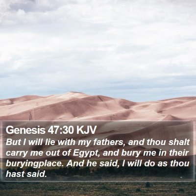 Genesis 47:30 KJV Bible Verse Image