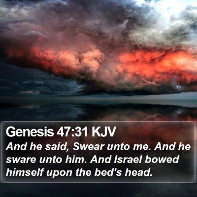 Genesis 47:31 KJV Bible Verse Image