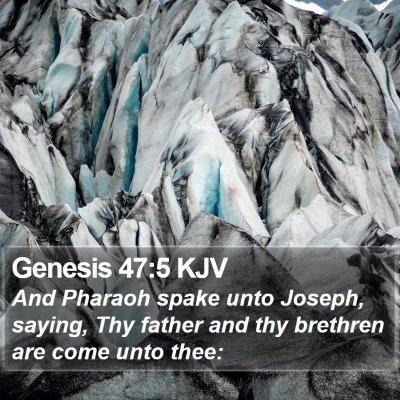 Genesis 47:5 KJV Bible Verse Image