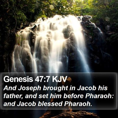 Genesis 47:7 KJV Bible Verse Image