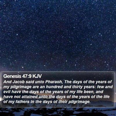 Genesis 47:9 KJV Bible Verse Image