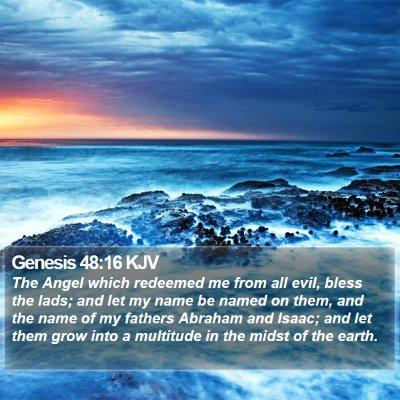Genesis 48:16 KJV Bible Verse Image
