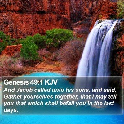 Genesis 49:1 KJV Bible Verse Image
