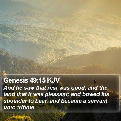 Genesis 49:15 KJV Bible Verse Image