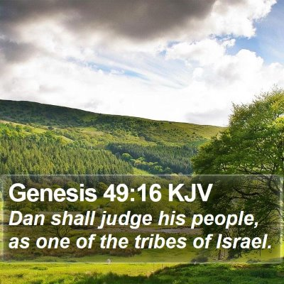 Genesis 49:16 KJV Bible Verse Image