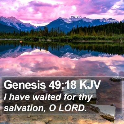 Genesis 49:18 KJV Bible Verse Image