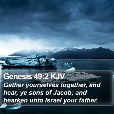 Genesis 49:2 KJV Bible Verse Image