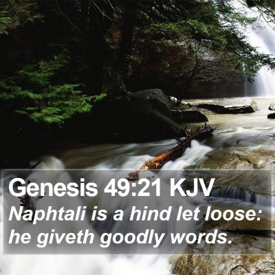 Genesis 49:21 KJV Bible Verse Image