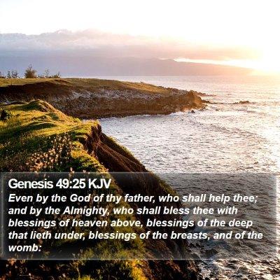 Genesis 49:25 KJV Bible Verse Image