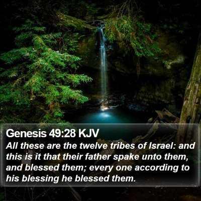 Genesis 49:28 KJV Bible Verse Image