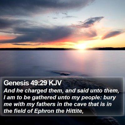 Genesis 49:29 KJV Bible Verse Image
