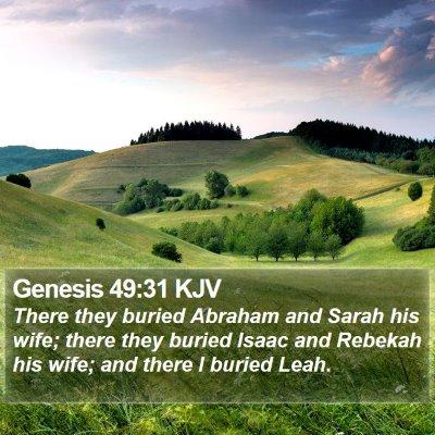 Genesis 49:31 KJV Bible Verse Image