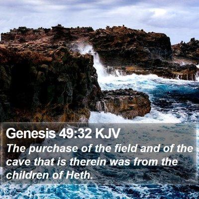 Genesis 49:32 KJV Bible Verse Image