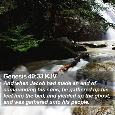 Genesis 49:33 KJV Bible Verse Image