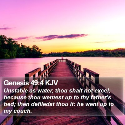 Genesis 49:4 KJV Bible Verse Image
