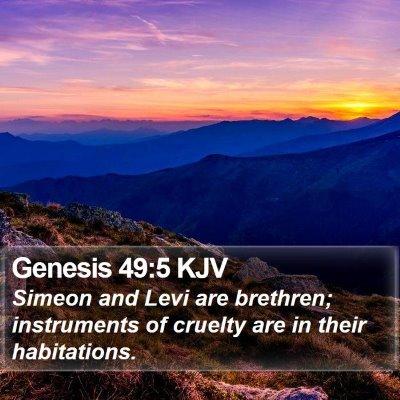 Genesis 49:5 KJV Bible Verse Image