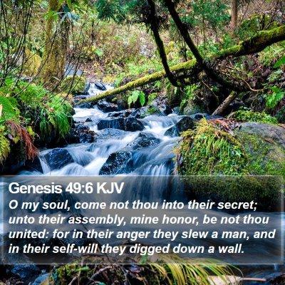 Genesis 49:6 KJV Bible Verse Image