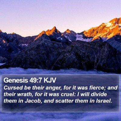 Genesis 49:7 KJV Bible Verse Image