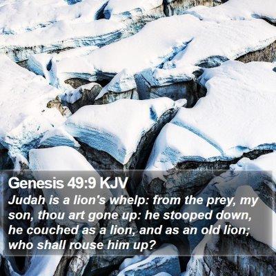 Genesis 49:9 KJV Bible Verse Image