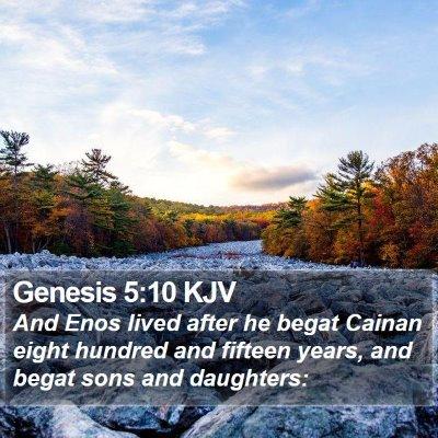 Genesis 5:10 KJV Bible Verse Image