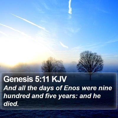 Genesis 5:11 KJV Bible Verse Image