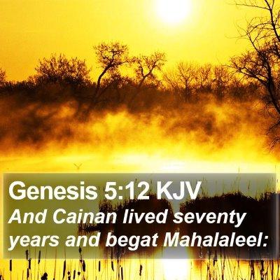 Genesis 5:12 KJV Bible Verse Image
