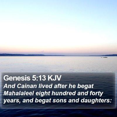 Genesis 5:13 KJV Bible Verse Image
