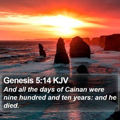 Genesis 5:14 KJV Bible Verse Image