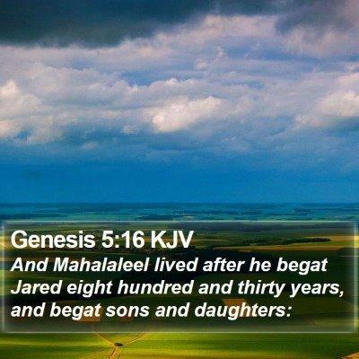Genesis 5:16 KJV Bible Verse Image